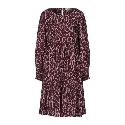 CAMICETTASNOB ミニワンピース&ドレス ディープパープル 42 キュプラ 100% ミニワンピース&ドレス