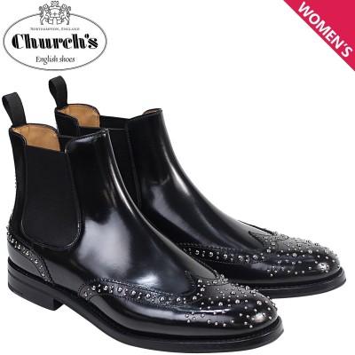 チャーチ Churchs 靴 レディース ブーツ サイドゴア ショートブーツ ウイングチップ Ketsby Met Polish Binder Calf 8748 DT0004