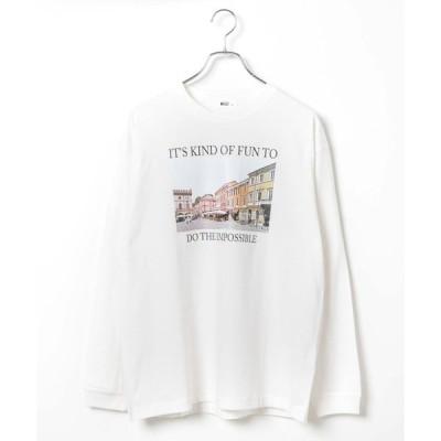 tシャツ Tシャツ WEGO/シティフォトプリントロンT