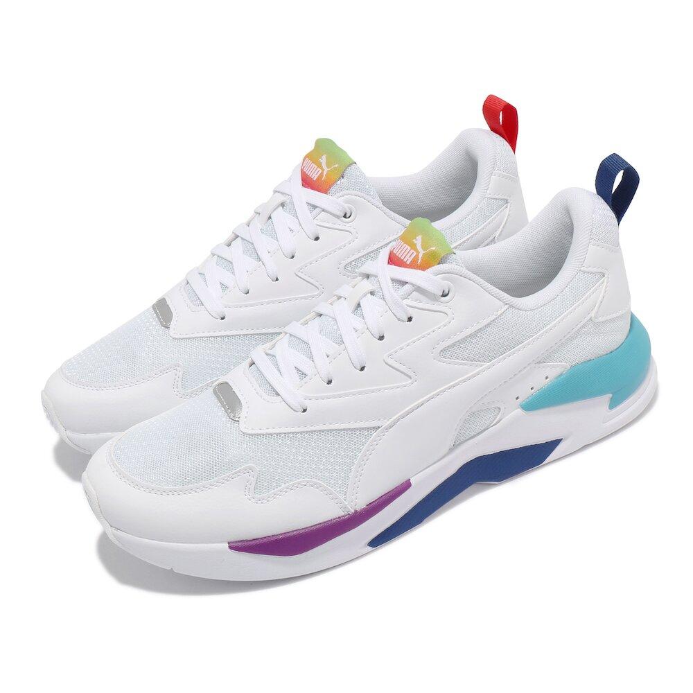 PUMA 休閒鞋 X-Ray Lite Rainbow 男女鞋 皮革鞋面 情侶鞋穿搭 彩虹 白 彩 [36886302]