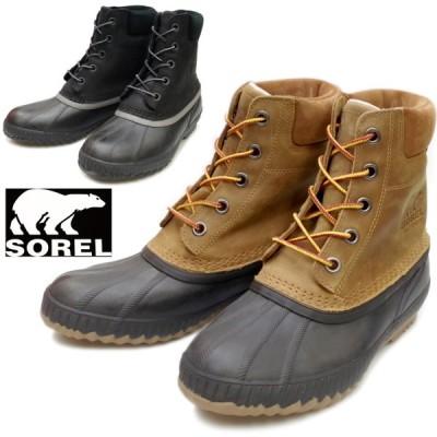 SOREL ブーツ メンズ ソレル スノーブーツ CHEYANNE II シャイアン NM2575 レースアップブーツ レインブーツ メンズ 本革 ウィンターブーツ 長靴 防水 防寒
