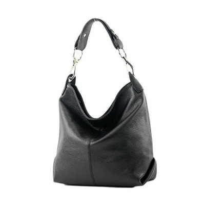 modamoda de - ital. Leather bag Shoulder bag Ladies bag Shoulder bag Leather T168, Colour:black 並行輸入品