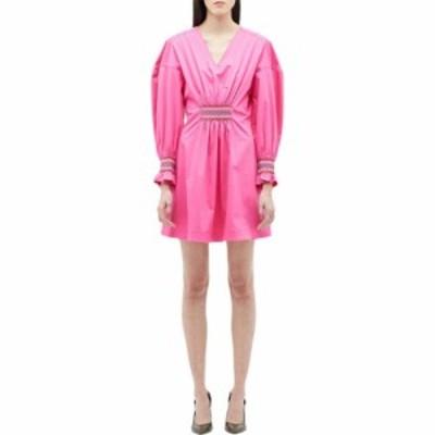 デレク ラム Derek Lam 10 Crosby レディース ワンピース ワンピース・ドレス Katerina Dress w/ Smocking Detail Vibrant Pink