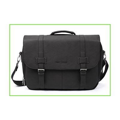 Sweetbriar Classic Laptop Messenger Bag, Black - Vegan Leather Briefcase Designed to Protect Laptops up to 15.6 Inches【並行輸入】【