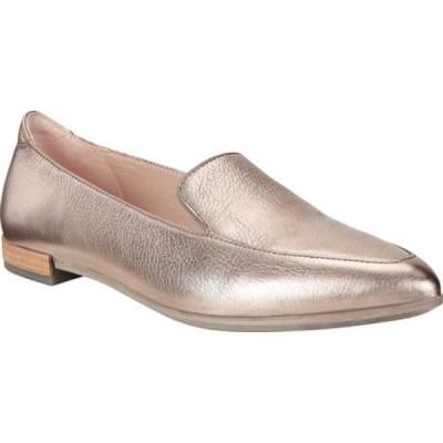 エコー サンダル シューズ レディース Shape II Pointy Ballet Flat (Women's) Warm Grey Metallic Cow Leather