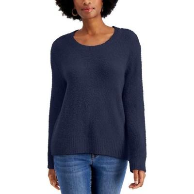スタイル&コー Style & Co レディース ニット・セーター トップス Petite Plush Crewneck Sweater Regal Blue