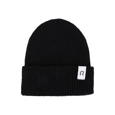 RIFÒ 帽子 ブラック one size 再生 カシミア 95% / 再生ウール 5% 帽子