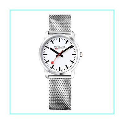 【新品】Mondaine Women's A400.30351.16SBM SBB Analog Display Swiss Quartz Silver Watch(並行輸入品)