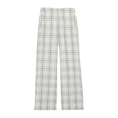 ビリーレイド レディース カジュアルパンツ ボトムス Gable Wide Leg Wool Blend Trousers GREY/CREAM