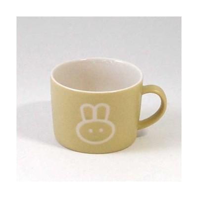 マグカップ 子供用 コップ プチママン キッズマグ ラビット ウサギ 陶器製