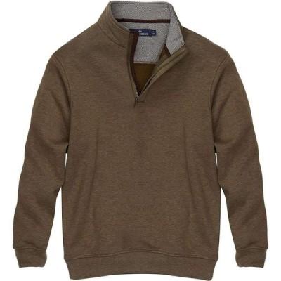 レインフォレスト Rainforest メンズ ニット・セーター トップス Herringbone Textured 1/4-Zip Pullover Sweater Olive