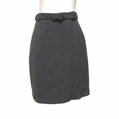 MAX MARA マックスマーラー イタリア製 ラップスカート ベルト付 (グレー) 118981 【中古】