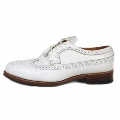 【中古】ジャランスリワヤ Jalan Sriwijaya 5625 ウィングチップ レザー シューズ メダリオン 革靴 3.5 白 ホワイト