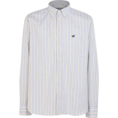 ヘンリーコットンズ HENRY COTTON'S メンズ シャツ トップス striped shirt Light grey