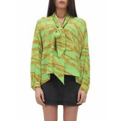 Balenciaga レディースその他 Balenciaga Green Blouse With Chain Print Green