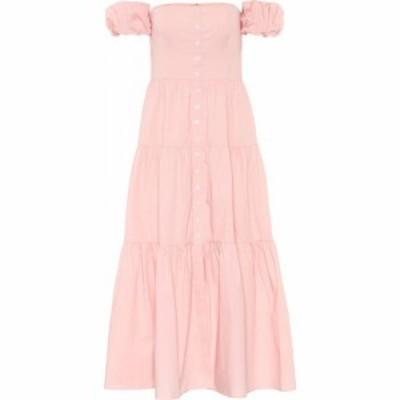 スタウド Staud レディース ワンピース マキシ丈 ワンピース・ドレス elio cotton maxi dress Strawberry Cream