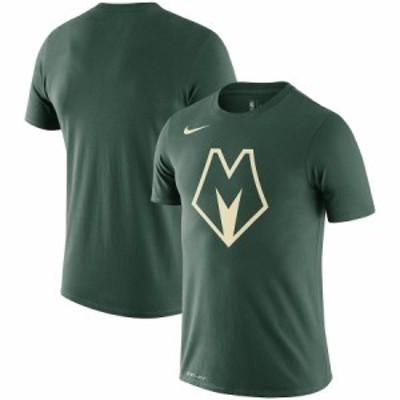 """ナイキ メンズ Tシャツ """"Milwaukee Bucks"""" Nike City Edition Logo Performance T-Shirt - Green"""