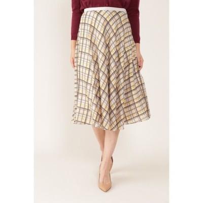 スカート ◆[ウォッシャブル]シアーチェックフレアースカート