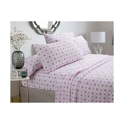 Full Sheet Set - Greta Pastel Sheets Set - Pink floral 100-percent Brushed