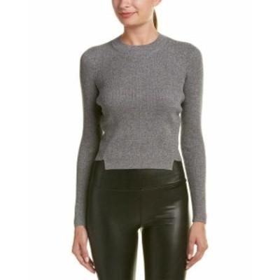 KENDALL + KYLIE ケンダル+キリー ファッション トップス Kendall + Kylie Lurex Wool-Blend Sweater L Grey