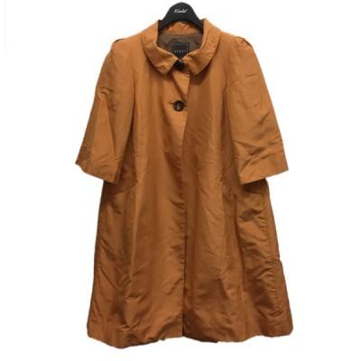 FOXEY ハーフスリーブシルクスプリングコート オレンジ サイズ:38 (中目黒店) 210314