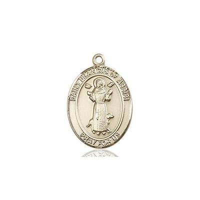 14kt Gold St. Francis of Assisi Medal, Patron Saint Animals/Catholic Action 1 x 3/4【並行輸入品】