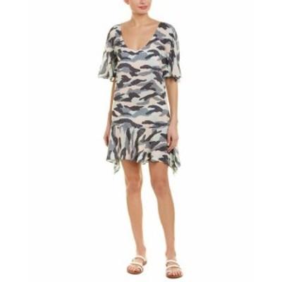 Vix ヴィックス ファッション ドレス Vix Camo Angel Caftan M Grey