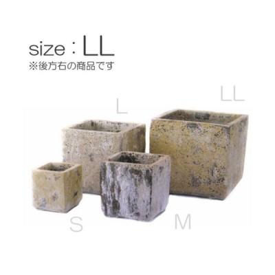 四角型植木鉢 / アトランティスキューブLL FS6030ALL【取り寄せ商品】 ミュールミル 陶器 穴有