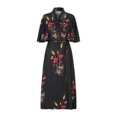 ヴァレンティノ VALENTINO 7分丈ワンピース・ドレス ブラック 42 シルク 100% 7分丈ワンピース・ドレス