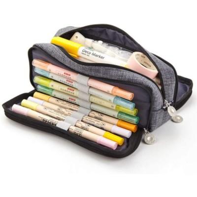 ペンケース 大容量 筆箱 多機能 ツールペンケース ポーチ 中小学生 高校生 大学生 男の子 女の子 子供 サラリーマン ビジネス