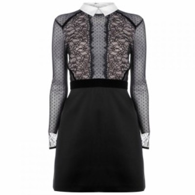 パーセヴェランス ロンドン Perseverance レディース ワンピース ミニ丈 ワンピース・ドレス Satin Skirt Mini Dress Black