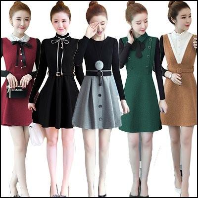 激安特価! ワンピース 韓国ファッション 限定発売上品&ガーリー♡スカート ♪ ワンピース/シャーリングディテール ワンピース
