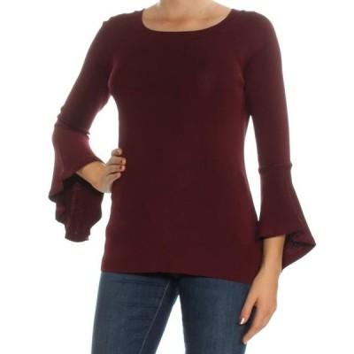 レディース 衣類 トップス I-N-C Womens Ruffled Sleeve Knit Sweater ブラウス&シャツ