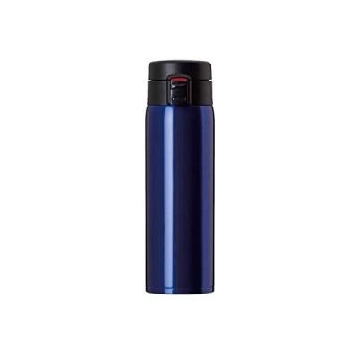 Atlas(アトラス) 水筒 大容量 真空 分解中栓 ダブル ステンレス ワンタッチ ボトル 0.68L ブルー (ブルー 0.68L)