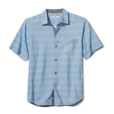 トッミーバハマ メンズ シャツ トップス Coconut Point Geo Short-Sleeve Woven Shirt Frozen Blue