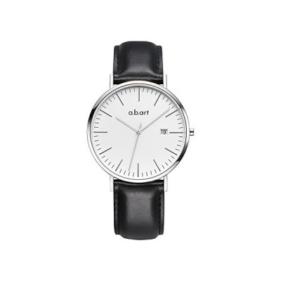 a.b.art FB41-131-1L Bauhaus Style Analog Quartz Black Wrist Watches for Men 並行輸入品