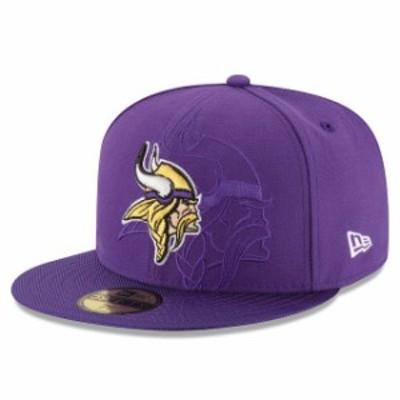New Era ニュー エラ スポーツ用品  New Era Minnesota Vikings Purple 2016 Sideline Official 59FIFTY Fitted Hat