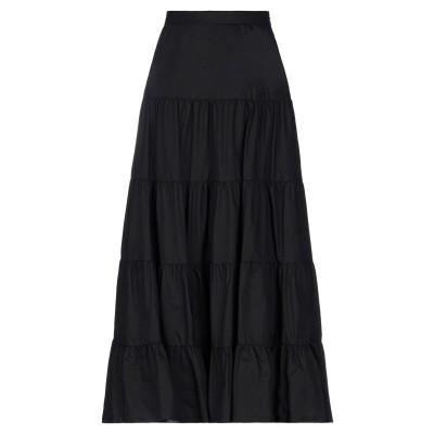 BIANCOGHIACCIO ロングスカート ブラック 42 コットン 100% ロングスカート