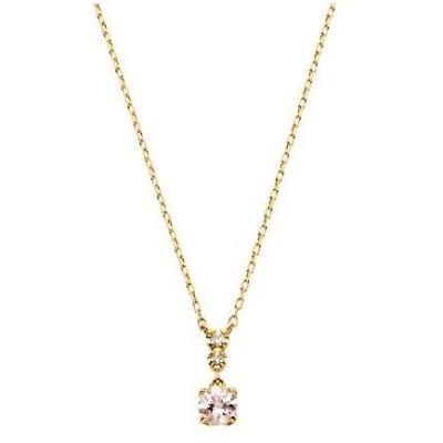 VAヴァンドーム青山 VA VENDOME AOYAMA K18YG ダイヤモンド0.010 CT モルガナイト ペイルピンク ネックレス