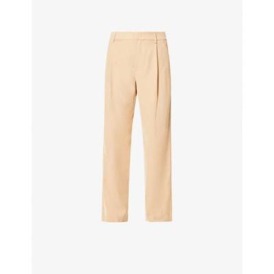 ヴィンス VINCE レディース ボトムス・パンツ Pleated wide-leg high-rise woven trousers Sand Dollar-sdo