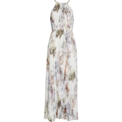 テッドベーカー TED BAKER LONDON レディース ワンピース ノースリーブ ワンピース・ドレス Ammaria Sleeveless Pleated Dress White
