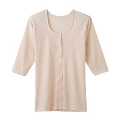 グンゼ GUNZE 快適工房 七分袖前あきボタン付シャツ 婦人用 KH5034(S、M、L) 【2枚までネコポスOK!】