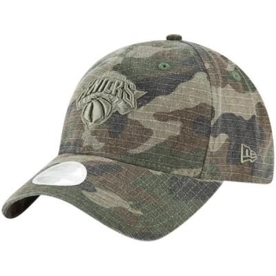 レディース スポーツリーグ バスケットボール New York Knicks New Era Women's Core Classic 9TWENTY Adjustable Hat - Camo - OSFA