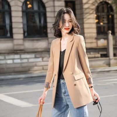 20色格子縞のスーツジャケット女性韓国版2020春と秋の新しいカジュアルレトロルーズレディーススモールスーツジャケット