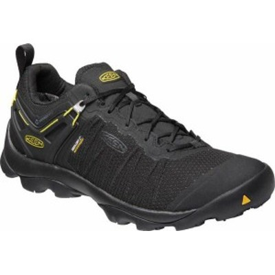 キーン メンズ スニーカー シューズ Venture Waterproof Hiking Shoe Black/Vibrant Yellow