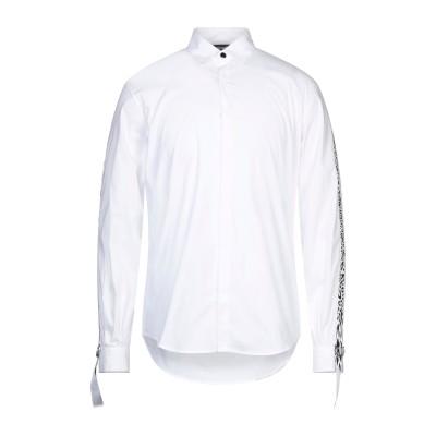 ジャストカヴァリ JUST CAVALLI シャツ ホワイト 44 コットン 76% / ナイロン 21% / ポリウレタン 3% シャツ