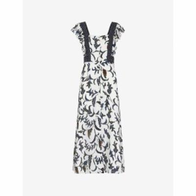ホイッスルズ WHISTLES レディース ワンピース ワンピース・ドレス Subrina graphic-print silk dress MULTI-COLOURED