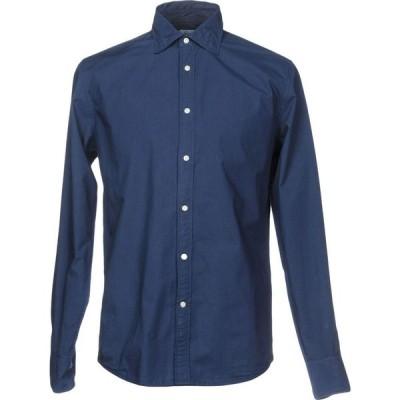 デペール DEPERLU メンズ シャツ トップス solid color shirt Blue