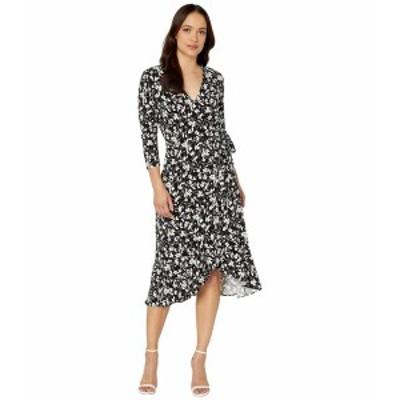ラルフローレン レディース ワンピース トップス Petite High-Low Jersey Dress Polo Black/Silk White