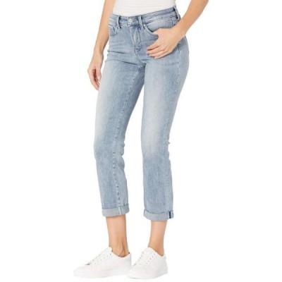ユニセックス パンツ Sheri Slim Ankle Jeans with Roll Cuff in Affection
